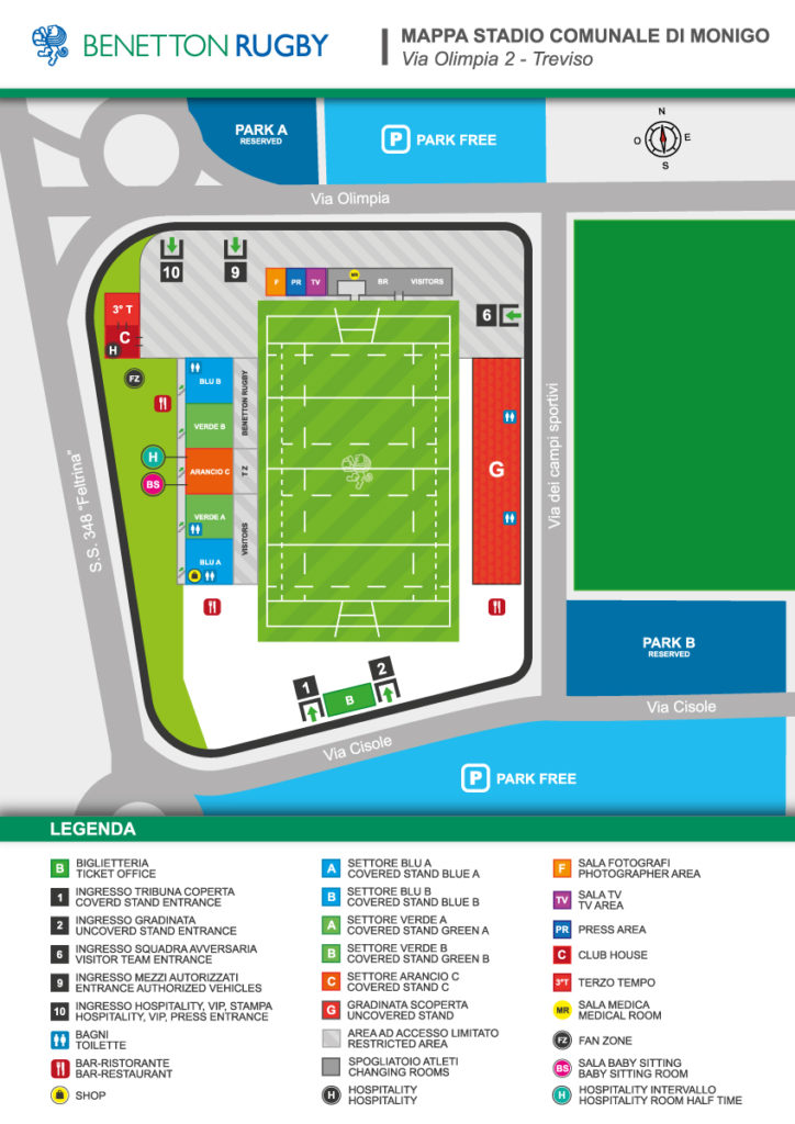 HOSPITALITY PACKAGES BENETTON RUGBY VS ZEBRE