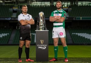 REPRO FREE***PRESS RELEASE NO REPRODUCTION FEE*** Launch of the 2016/17 Guinness PRO14 Season, Aviva Stadium, Dublin 23/8/2017 Pictured today at the launch of the 2016/17 Guinness PRO14 Season is Tommaso Castello (Zebre) and Dean Budd (Benetton Treviso)  Mandatory Credit ©INPHO/Billy Stickland