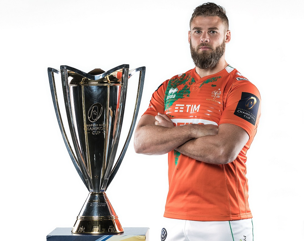 REPRO FREE***PRESS RELEASE NO REPRODUCTION FEE*** 2017/2018 EPCR European Rugby Champions Cup & European Rugby Challenge Cup Launch, Convention Centre, Dublin 2/10/2017 Benetton Treviso's Dean Budd Mandatory Credit ©INPHO/Dan Sheridan