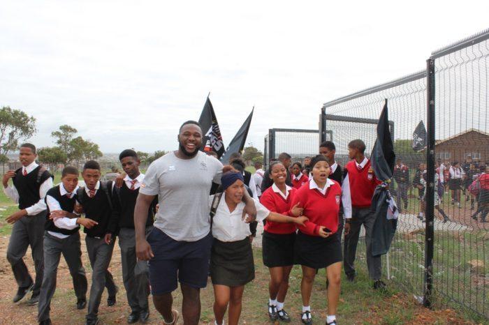 I LEONI IN VISITA ALLA BERTRAM SCHOOL INSIEME AI SOUTHERN KINGS