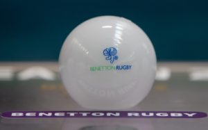 REPRO FREE***PRESS RELEASE NO REPRODUCTION FEE*** EDITORIAL USE ONLY 2018-2019 EPCR European Rugby Heineken Champions Cup & European Rugby Challenge Cup Pool Draws, Olympic Museum, Lausanne, Switzerland 20/6/2018 A view of the Benetton Rugby ball Mandatory Credit ©INPHO/Morgan Treacy