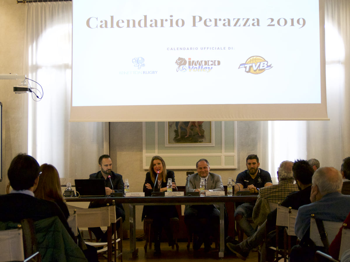 Calendario Benetton Rugby 2019.Presentazione Calendari Perazza 2019 Benetton Rugby